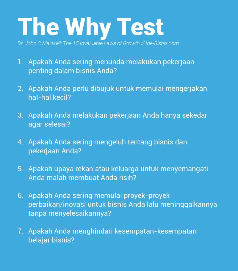 The Why Test - John Maxwell